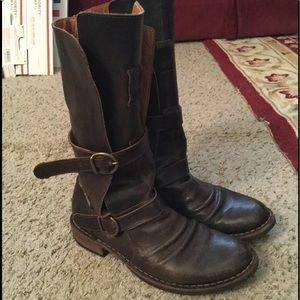 FIORENTINI & BAKER ETERNITY LEATHER MOTO BOOTS 9.5